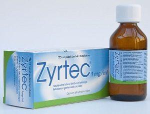 Как определить ребенку дозу употребления Зиртека